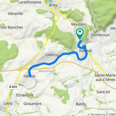 De D643, Auboué à 4 Route de Briey, Auboué