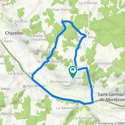 De 432 Rue des Hirondelles, Saint-Germain-de-Montbron à 432 Rue des Hirondelles, Saint-Germain-de-Montbron