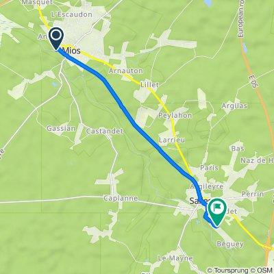 1 Allée de la Plage, Mios to Route du Béguey, Salles