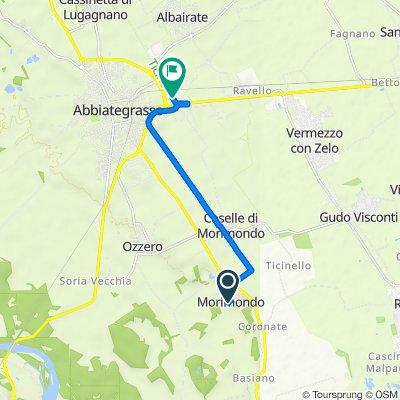 Da Via Fratelli Attilio 2, Morimondo a Strada Provinciale 117 Naviglio Grande 1, Abbiategrasso