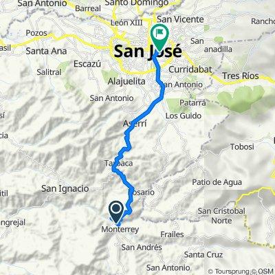 De 313, Monterrey a Paseo Rubén Darío 2540, San José