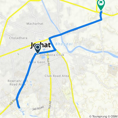 Route from KB Road, Jorhat
