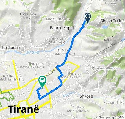 Albania to Rruga 4 Dëshmorët 21, Tirana