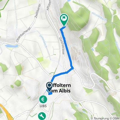 Merkurstrasse 3, Affoltern am Albis to Lettenackerstrasse 60, Hedingen