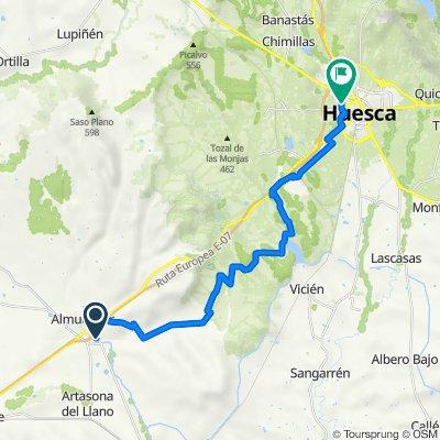 De Carretera de Bolea a Sariñena, Almudévar a Calle del Padre Querbes, 1, Huesca