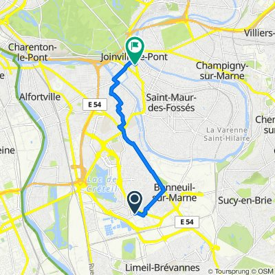 Route from Rue Charles Gustave Stoskopf 5, Créteil