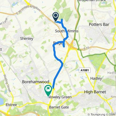 46–48 Blackhorse Lane, South Mimms, Potters Bar to 144 Balmoral Dr, Borehamwood