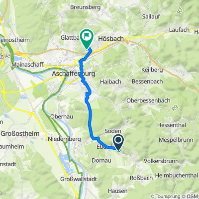 Hauptstraße 44, Leidersbach nach Schloßberg 3, Goldbach