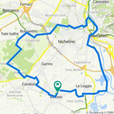 Anello Vinovo-Stupinigi-Nichelino-Vallere-DigaLaLoggia-Vinovo