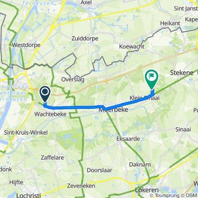 Langelede 2–36, Wachtebeke naar Wittingstraat 31, Stekene