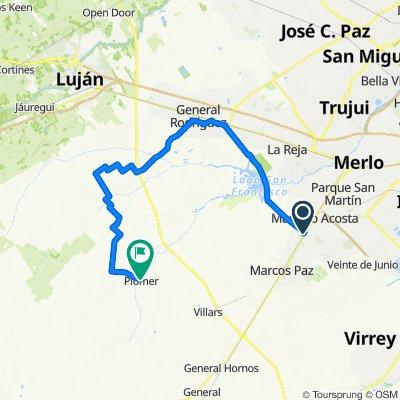 De 43714 - Doctor Ricardo Balbín, Marcos Paz a Las Acacias, Plomer