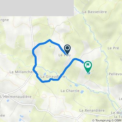 De Le Peu, Verruyes à L'Aubrière, Verruyes