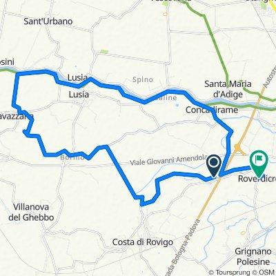Da Via Moline, Rovigo a Via Giovanni Pozzato 1, Rovigo