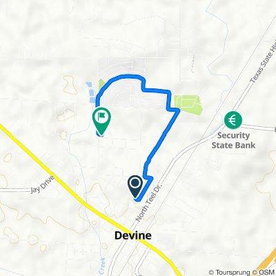 204 W Moore Ave, Devine to 612 Davis Ave, Devine