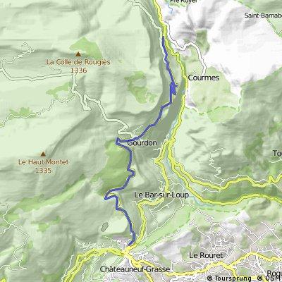 Cycling the Alps Côte de Gourdon (744m)