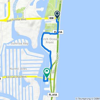 999 N Fort Lauderdale Beach Blvd, Fort Lauderdale to 240 Las Olas Cir, Fort Lauderdale
