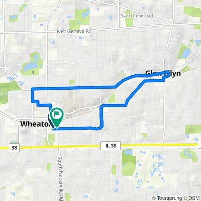 207 Reber St, Wheaton to 250 S Naperville Rd, Wheaton