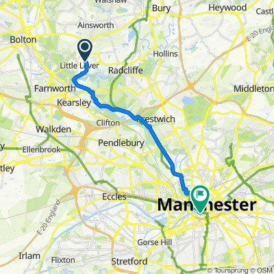 77 Masefield Road, Bolton to 91 Hewitt St, Manchester