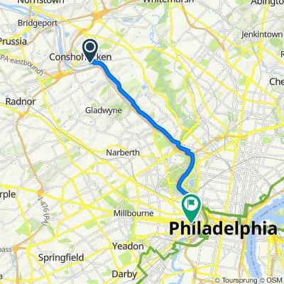 51–99 Sandy St, Conshohocken to 3550 Market St, Philadelphia