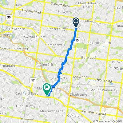 157 Union Road, Surrey Hills to 14 Berrima Avenue, Malvern East