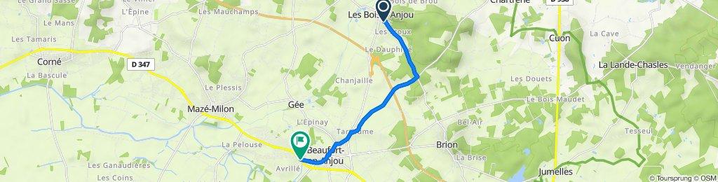 De Route de Brion 3, Fontaine-Guérin à Rue de la Tannerie 7553, Beaufort-en-Anjou