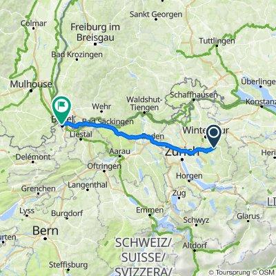 Madetswil Basel 110 km
