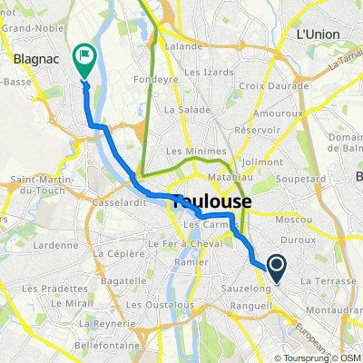 De 13 Avenue du Petit Prince, Toulouse à 20–28 Rue Saint-Exupère, Blagnac