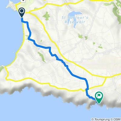 Route from Rocque Poisson, St Pierre Du Bois