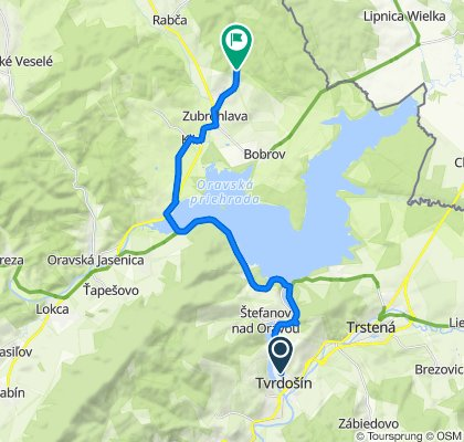 Tvrdošín - Oravská priehrada - Námestovo - Klin - Zubrohlava (rozhľadňa)