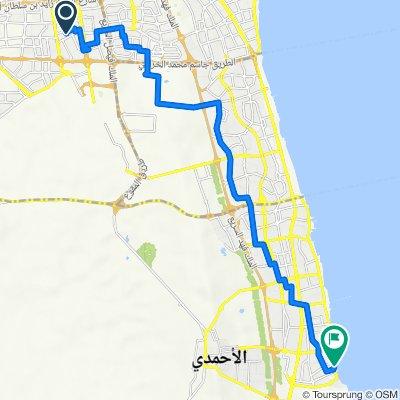 Route from 76 Street 114, Al Farwaniyah to Fahaheel