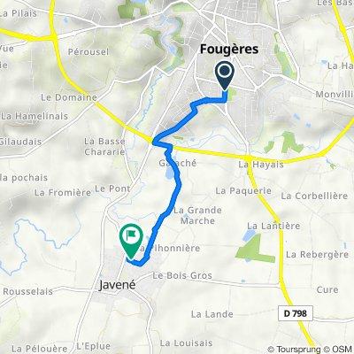 De 44 Boulevard Huguette Gallais, Fougères à 10 Rue de la Gibelière, Javené