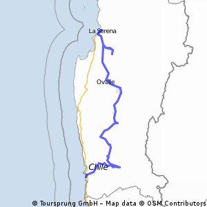 La Serena, Andacollo, Ovalle, Combarbala, Illapel, Salamanca, Los Vilos