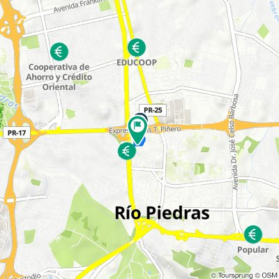 834 Calle Añasco, San Juan to 45–99 Calle 1, San Juan