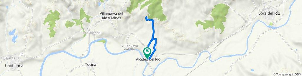 De Calle de Colón, 6, Alcolea del Río a Calle de Rafael Alberti, 18, Alcolea del Río