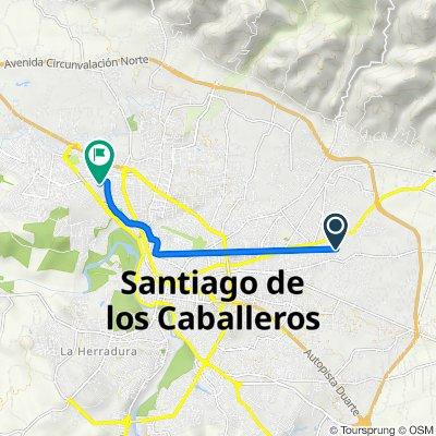 Ruta a Calle 9, Santiago de los Caballeros