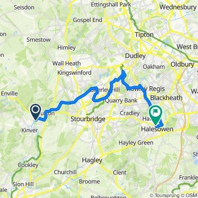 Route to 14 Grammar School Lane, Halesowen