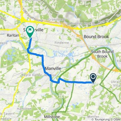 464 Elizabeth Ave, Somerset to 50 Division St, Somerville