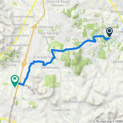 1122 Pin Oak Ln, Brentwood to 3048 Mallory Ln, Franklin