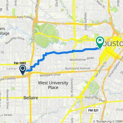 3535 Sage Rd, Houston to 1712 Matthews St, Houston
