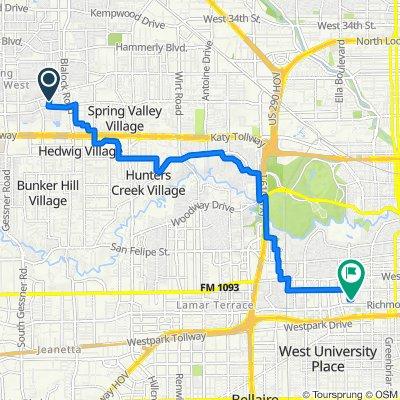 Springrock Lane 1455, Houston to West Main Street 3262, Houston