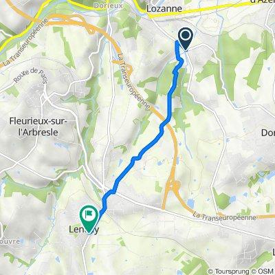 De 948–962 Route de La Tour-de-Salvagny, Lozanne à 12 Rue de la Planche, Lentilly