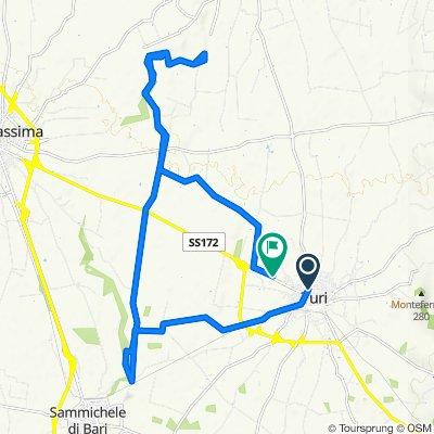 Da Via Oberdan 16, Turi a Via Casamassima 144, Turi