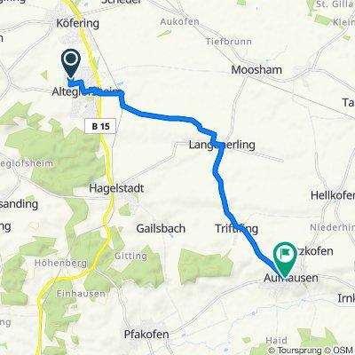 Köferinger Weg 19, Alteglofsheim nach Im Tal 1, Aufhausen