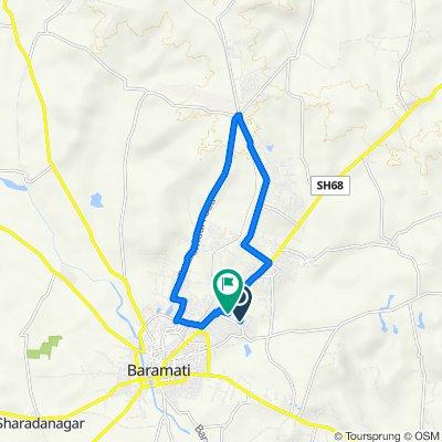 Jalochi New Vasti, Baramati to Shiva Nagar, Baramati