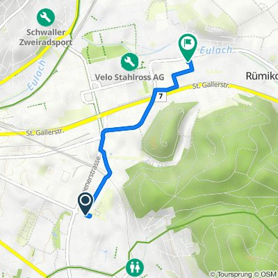 Etzbergstrasse 8, Winterthur nach Hintermühlenstrasse 2, Winterthur
