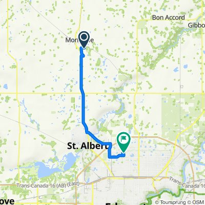 9504 90 Ave, Morinville to 11903 162 Ave NW, Edmonton