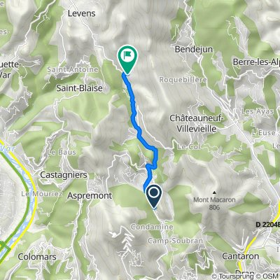 De 23 Chemin Pascal, Tourrette-Levens à 149 Allée du Château, Levens