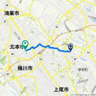 26, Uchijukudai 6-Chōme, Ina, Kitaadachi-Gun to 10-9, Nakamaru 1-Chōme, Kitamoto