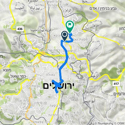 маршрут с Haaluf Yekutiel Adam Street, Shu'fat
