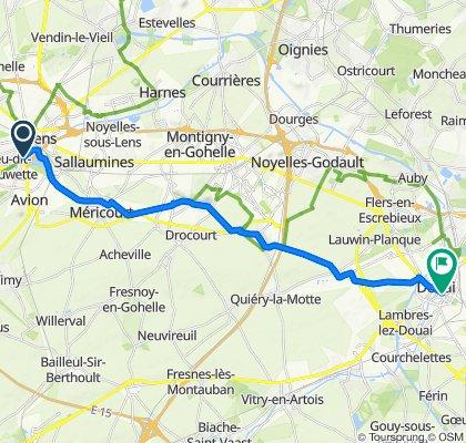 De Rue du Gard 38, Lens à Rue de la Mairie 78, Douai